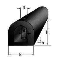 D-type rubber boat fenders