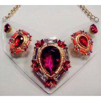 Fashion Jewelry Transparent Acrylic Crystal Necklace