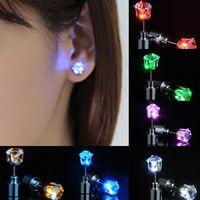 Christmas Gift LED Stud Flash Earrings Hairpins Strobe LED Earring Lights Strobe LED Earrings thumbnail image