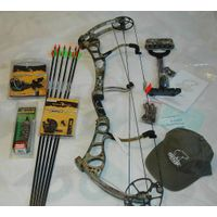 2012 Bear Archery Anarchy 29/70 Right Hand Compound Bow Pkg APG Camo thumbnail image