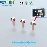 AgNi,AgCdO,AgSnO2,AgZnO,Ag/Cu electrical composite/bimetal contact silver rivet ex-factory