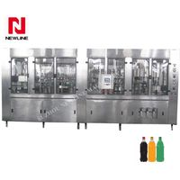 Automatic bottle carbonated soft drink bottling plant