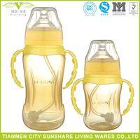 Free BPA 99.99% Antibacterial Rate Nano Silver PP Baby Feeding Bottles