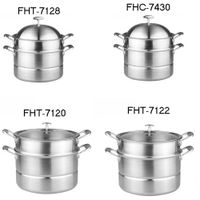 304Stainless steel pot-steamer