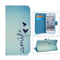 Magnetic Flip Stand Leather Case with Pocket for iPhone 5/5S -Butterfly