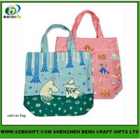 Fashion design cute printing shopping bag and handle bags