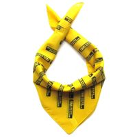 Wholesale yellow cotton bandana west union logo printing cotton scarf promotional customized big han