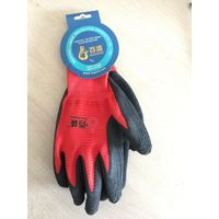 13 gauege angular polyester liner with latex foam finished palm coating glove thumbnail image