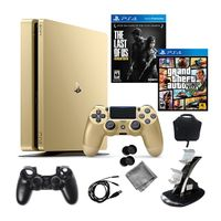 Sony PlayStation 4 Slim 1TB Gold Limited Edition with 2 Games [150-200 USD ]