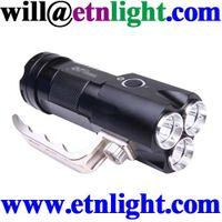 flashlight SST61 3xcree xml t6 leds bulb 3x18650 batt middle switch 5 modes aluminum