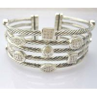 Sterling Silver Jewelry Pave Clear CZ Diamond Five Row Bracelet(B-087) thumbnail image