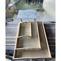 Wood food serving tray thumbnail image
