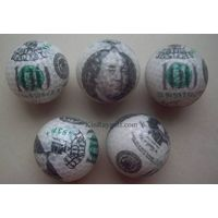 Currency golf ball,Money golf ball