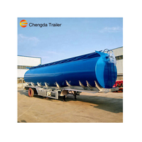 Chengda Brand Used for Transporting Diesel Oil Tank Truck Dimension Oil Tank Trailer
