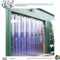 Green Double Ribbed 4mm Thickness Polar Freezer PVC Vinyl Plastic Door Curtain Strip thumbnail image
