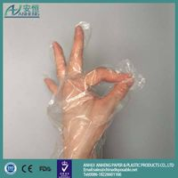 patient protection hole style disposable cheap price pe glove