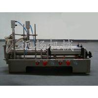 semi-automatic double head pneumatic bottle filling machine thumbnail image