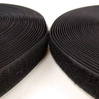 Good quality polyester Hook and loop sewing hook&loop fastener black color for bags thumbnail image