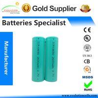 A Grade Quality Guaranteed ICR Li-ion 18650 2600mAh 3.7V Battery Manufacturer