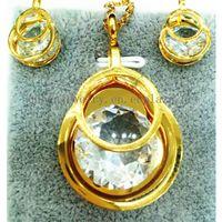 custom necklace AAA Cubic zircon Stainless steel Pendant Earring Gold Women Jewelry