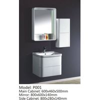 PVC Painted Bathroom cabinet /vanity combo P001