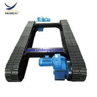Factory design underwater robot steel track undercarriage with slewing bearing thumbnail image
