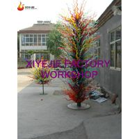 hot sales Modern large outdoor garden hotel interior hall lobby decorative hand blown chihuly style
