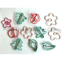 Plant shaped paper clips