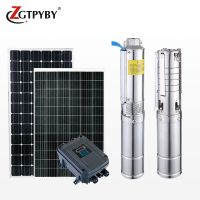 180w 24v 1inch outlet 22m head dc submersible water pump with solar panel pump system
