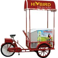 Normal tricycle with 158L solar freezer