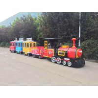 Fiberglass electric trackless diesel amusement park trains for sale