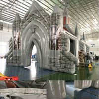 giant outdoor inflatable church,large inflatable chapel,commercial inflatable castle church house