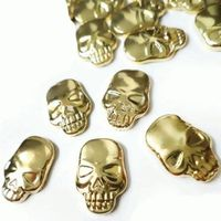 Stylish skull shape hot fix metal studs for clothing decoration thumbnail image