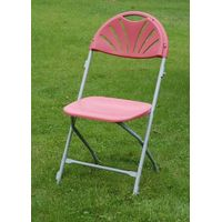 White/Black/Burgandy Fanback Folding Chair(YOMO-002)