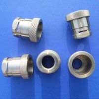 Stainless Steel CNC Turned Parts with Sheared and Knurled Trough thumbnail image
