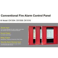 Conventional 24V Class B IDCs four-zone fire alarm control panels HS-CK1004 connecting with 2-wire s thumbnail image