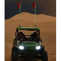 Remote Control 12v 6feet Waterproof Fiber Optic Led whips lights led Lighted Flag ,6ft Led Safety Li