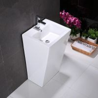 China one piece pedestal wash deep sink manufacturer