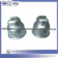 High voltage application malleable iron insulator caps