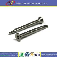 Stainless Steel 316 Torx With Pin Drive Countersunk Head Self Drilling Screws