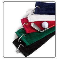 Tri-Fold Golf Bag Towel with Washing Pocket thumbnail image