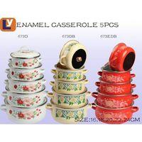 3pcs set 671EDB 673EDB Africa market enamel casserole set cookware