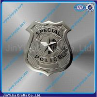 Anti Silver Zinc Alloy Shield Plaque With 3D Effect