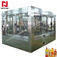 Automatic juice washing filling capping 3in1 machine