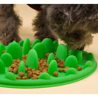 Silicone pet bowl slow feeding plate