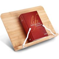 The bamboo wood book reading stand holder is made of 100% high-quality bamboo