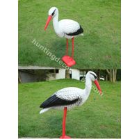 hunting decoy crane plastic garden decoration