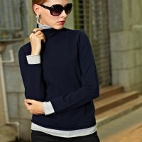 Women's Double Collar Double Color Cashmere Sweater