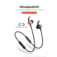 sports tws wooden earphone true wireless earbuds with woodpods VII