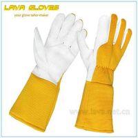 Pigskin Leather Long Sleeve Adult Gardening Gloves thumbnail image